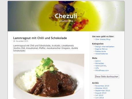 Foodblog Chezuli